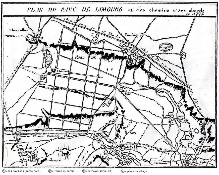 Le domaine est un vaste carré étendu jusqu'à Forges et Roussigny