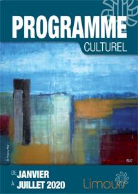 Couverture Programme culturel de janvier à juillet 2020